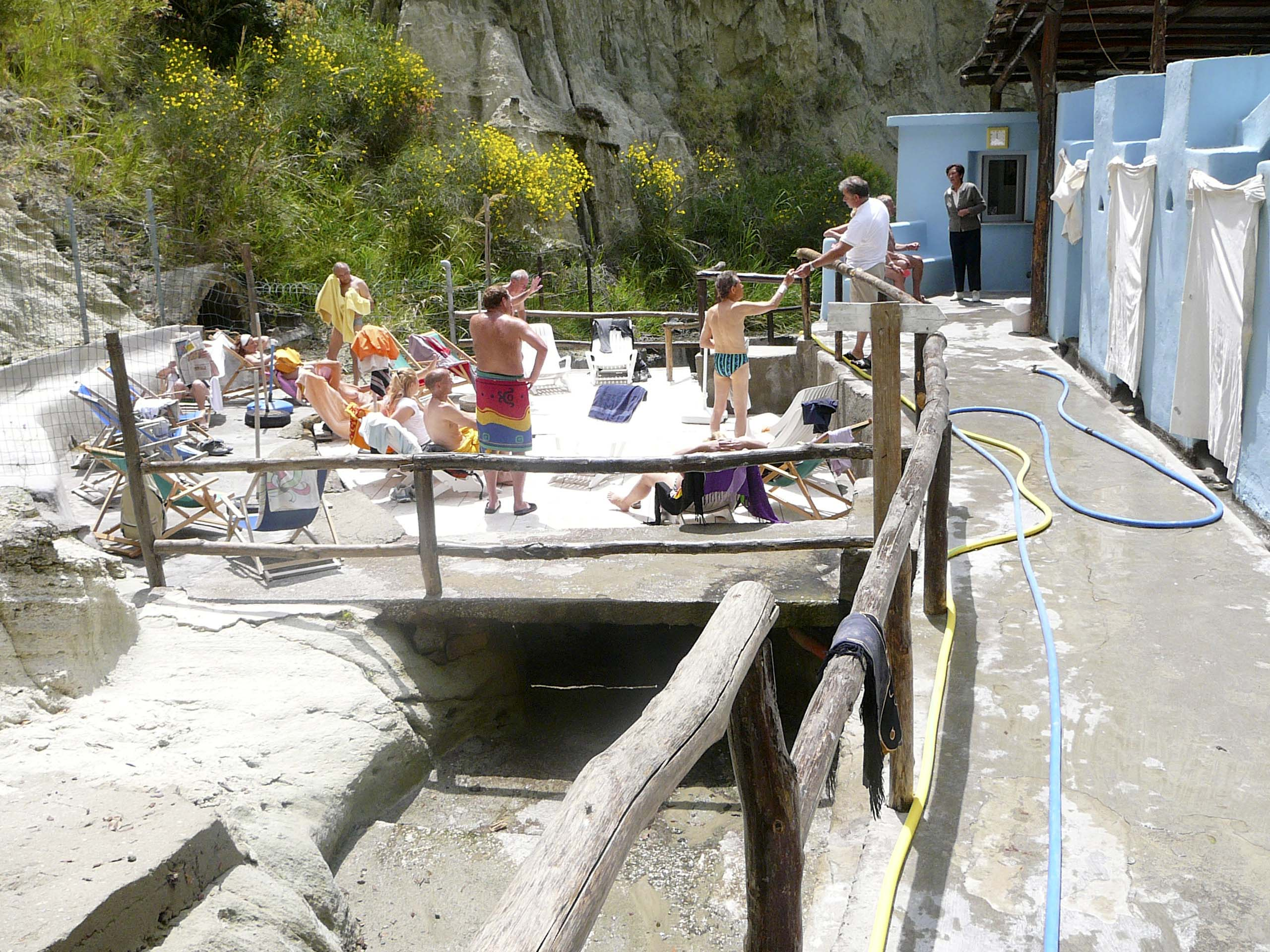 Ischia. Thermalbad in Thermalpark